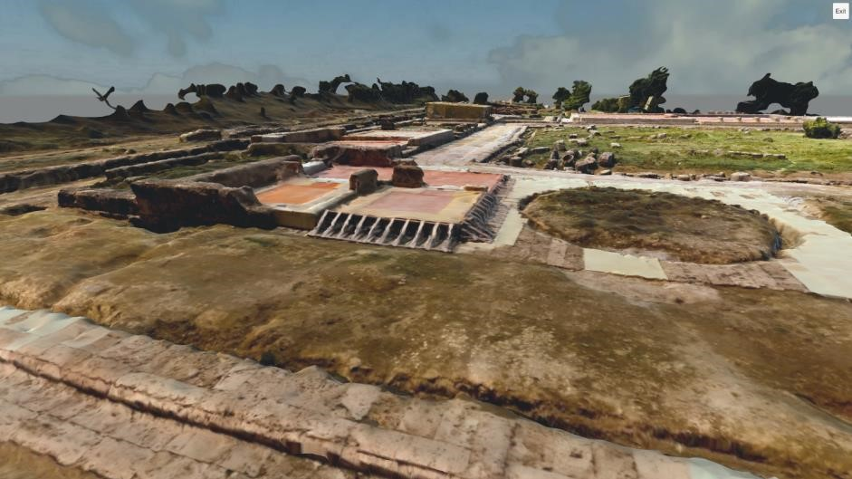 Open site virtual experience (Palace of Aigai)