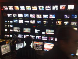 Newsroom at a TV station
